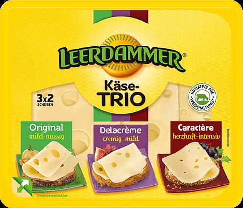 Leerdammer Käse Trio Packshot Frontal 2